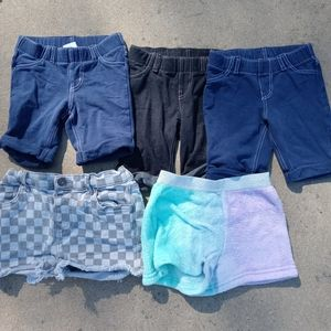 Bundle of 5 girls shorts all fit a 4 year old